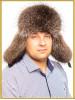 "Енотовая шапка ушанка ""Ферзь"""