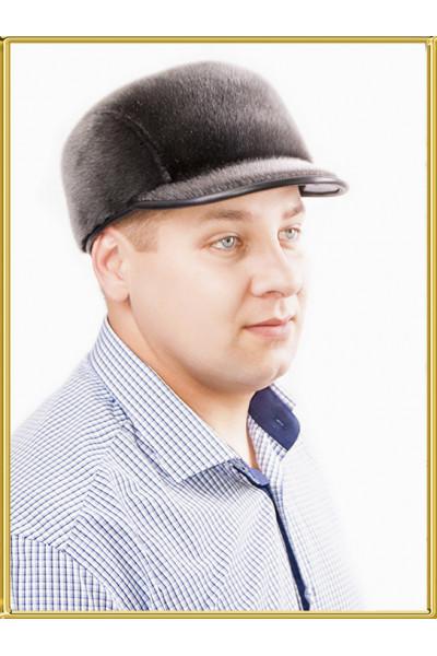"""Мужская шапка из нерпы """"Стелс"""""""