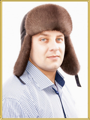 "Шапка пилот меховая ""Сильвер"""