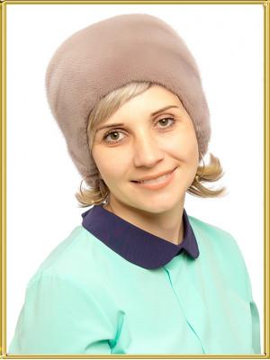 """Женская норковая шапка """"Анжелина"""""""