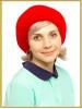 """Вязаная шапка из меха """"Айрис"""""""